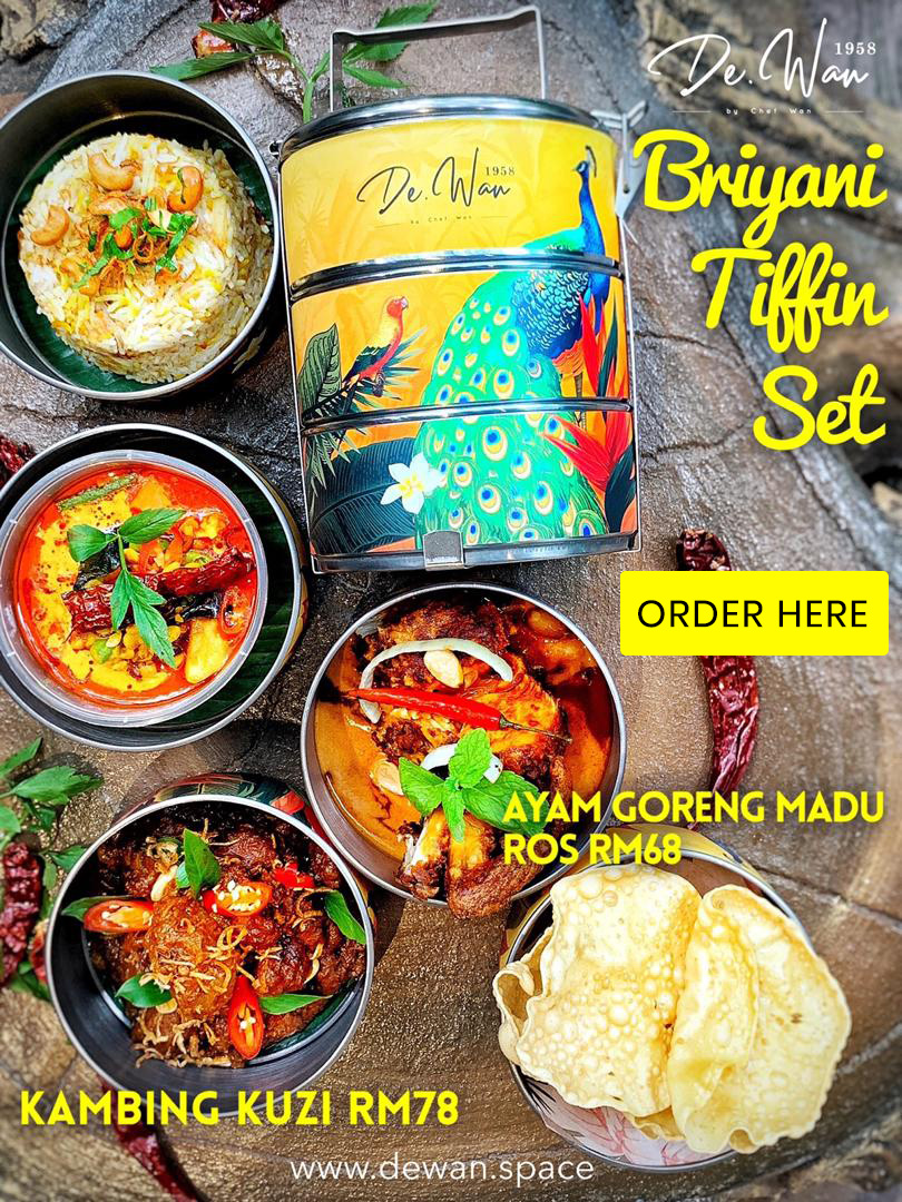 Briyani Tiffin Set (Kambing Kuzi)