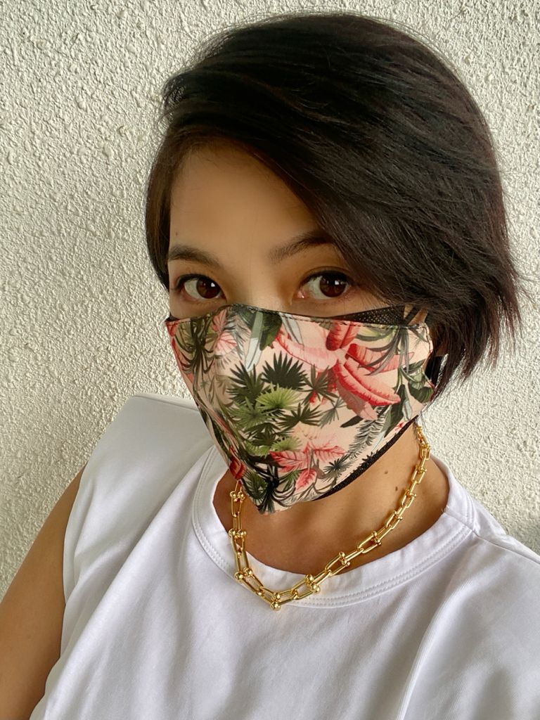 """CHEF WAN """"DE.WAN 1958 MURAL"""" 3-LAYERS STRUCTURE WASHABLE FACE MASK"""