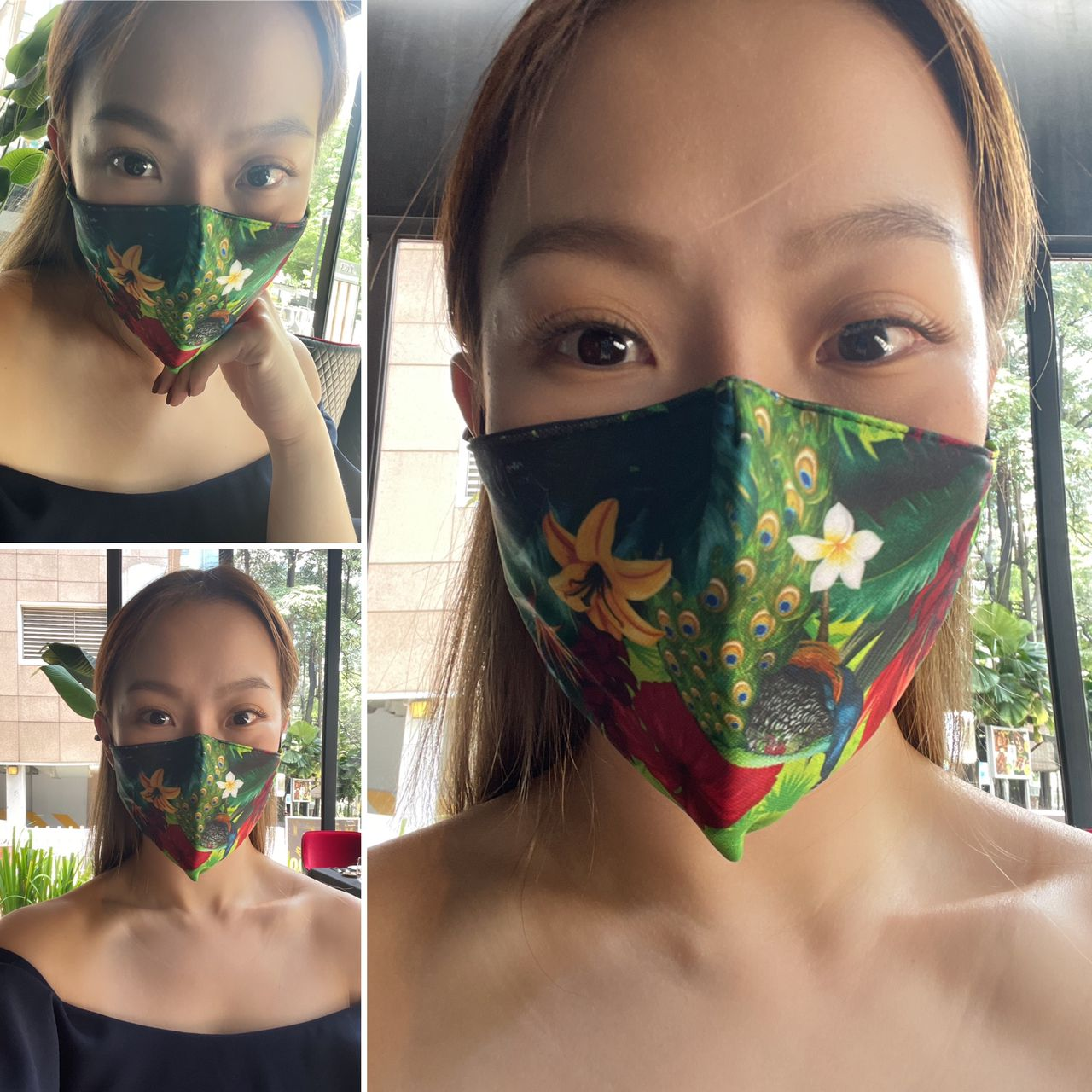 """CHEF WAN """"DE.WAN 1958 FLORAL"""" 3-LAYERS STRUCTURE WASHABLE FACE MASK"""